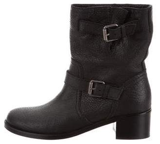 Delman Leather Mid-Calf Boots