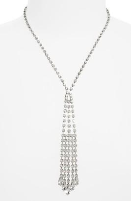 Women's Nina Crystal Cascade Y-Necklace $75 thestylecure.com