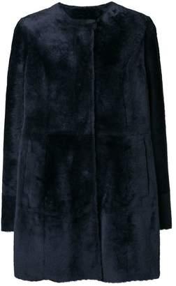 Drome press stud fur coat
