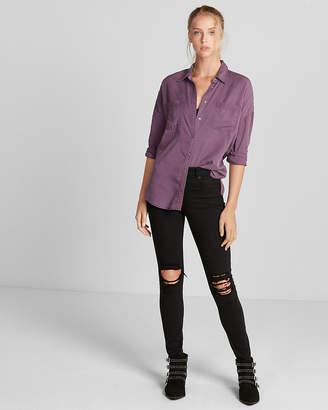 Express Silky Soft Twill Drop Shoulder Shirt