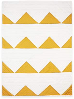 Anchal Project Organic Cotton Gold Triangle Throw