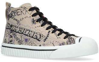 Burberry Graffiti High Top Sketchbook Sneakers
