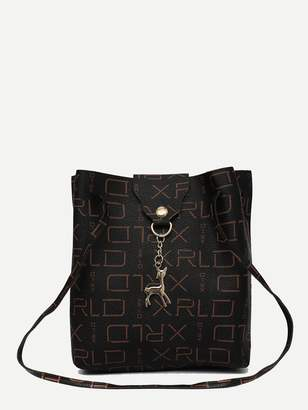 Shein Deer Charm Decor Bag