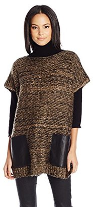 Collection XIIX Women's Textured Pocket Poncho $68 thestylecure.com