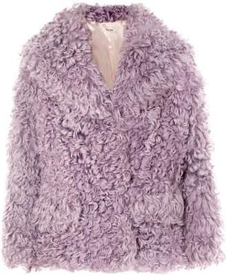 Miu Miu Shearling Jacket - Pink