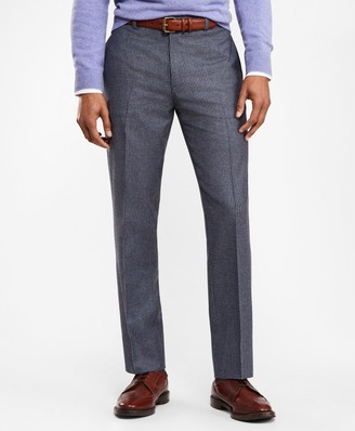 Brooks Brothers Houndscheck Wool Twill Suit Trousers