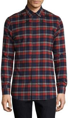 Givenchy Men's Plaid Button-Front Shirt