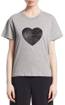 RED Valentino Heart Patch Cotton T-Shirt