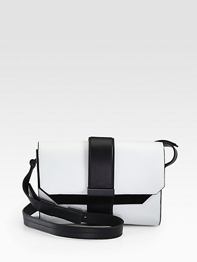 Leather & Suede Colorblock Shoulder Bag