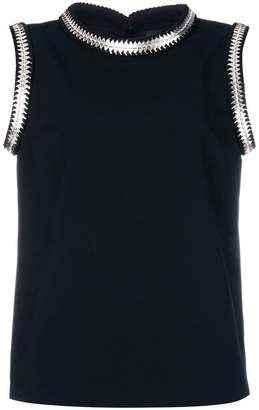 DSQUARED2 metallic coin-embroidered blouse