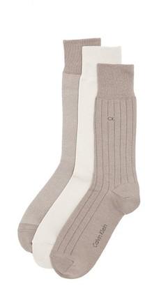 Calvin Klein Underwear 3 Pack Birdseye Multi Pack Crew Socks $22 thestylecure.com
