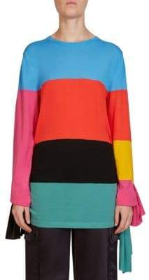 Loewe Asymmetric Rainbow Wool Top