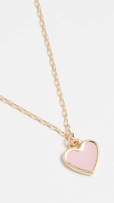 Shashi Enamel Heart Necklace