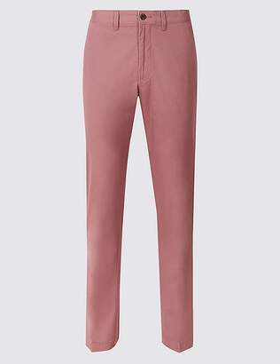 Marks and Spencer Straight Fit Pure Cotton Chinos