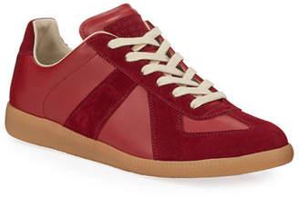 Maison Margiela Men's Replica Low-Top Leather Sneakers