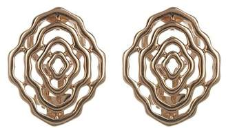 Breuning Rose Gold Plated Sterling Silver Geo Flower Earrings