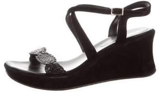 Stephane Kelian Suede Wedge Sandals