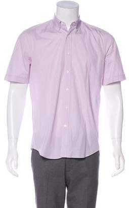 Lanvin Check Short Sleeve Shirt