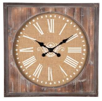 Foreside Home & Garden Aged Wood Wall Clock