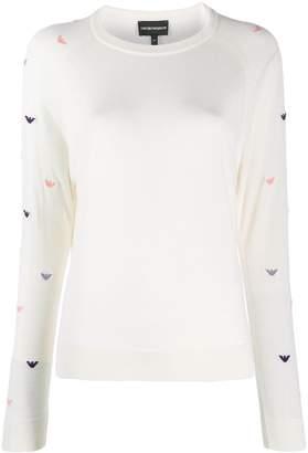 Emporio Armani logo-embroidered jumper