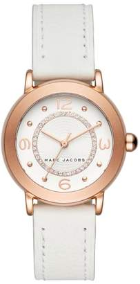 Marc Jacobs Riley Leather Strap Watch, 29mm