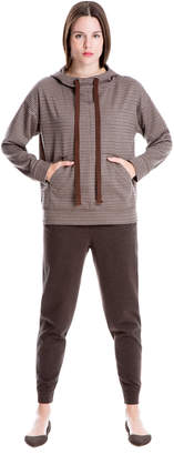 Max Studio houndstooth doubleknit hoodie