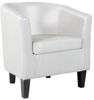 CorLiving Antonio Bonded Leather Tub Chair