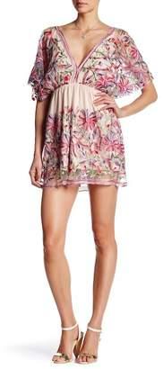 Raga V-Neck Floral Short Dress