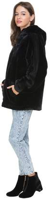 Juicy Couture Faux Fur Hooded Pullover