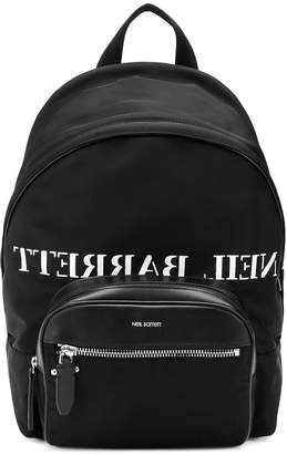 Neil Barrett logo print backpack