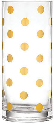 """Kate Spade 10"""" Pearl Place Vase - Gold"""