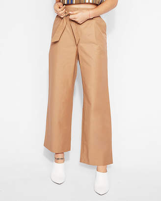 Express High Waisted Tie Front Culottes