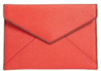Rebecca Minkoff 'Leo' Envelope Clutch - Orange $95 thestylecure.com