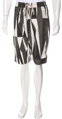 Rick Owens Printed Pod Shorts w/ Tags