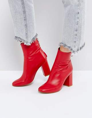 Asos Edition Leather Zip Ankle Boots