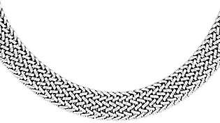 """QVC Sterling Polished Mesh Link 18"""" Necklace"""