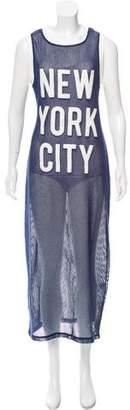 Hood by Air Open Knit Maxi Dress