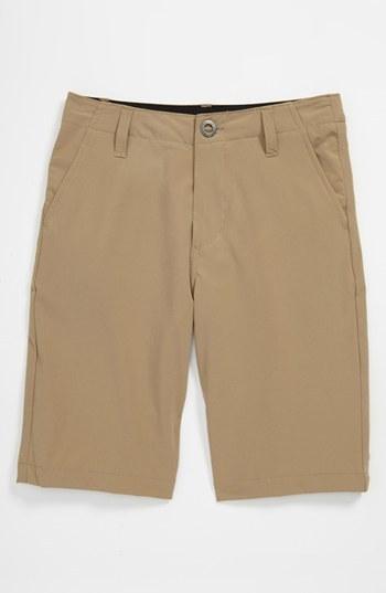 Volcom Hybrid Shorts (Big Boys) Dark Khaki 24