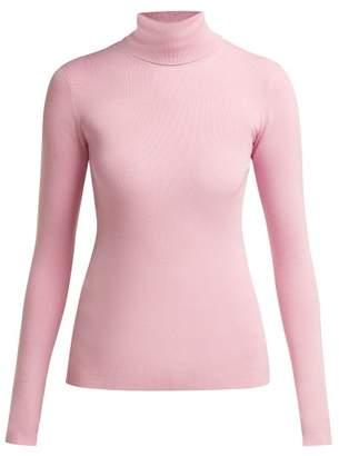 Joseph Roll Neck Silk Blend Sweater - Womens - Light Pink