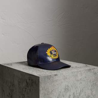 Burberry Archive Logo Coated Cotton Baseball Cap