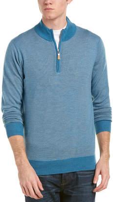 Peter Millar 1/4-Zip Mock Merino Wool Sweater