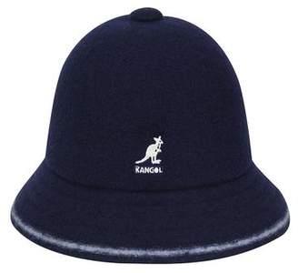 Kangol Headwear Wool Stripe Casual Bucket Hat in Navy