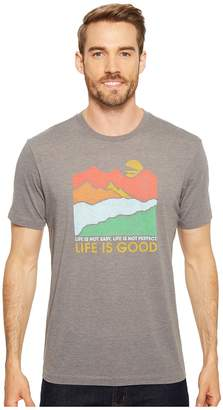 Life is Good Life Isn't Easy Mountains Cool Tee Men's T Shirt