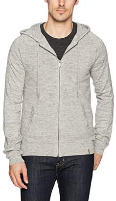 Calvin Klein Jeans Men's Long Sleeve Waffle Texture Full Zip Hoodie Sweater