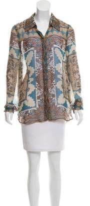 L'Agence Printed Silk Top