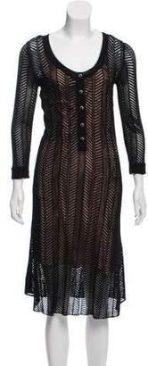 The Kooples Midi Three-Quarter Sleeve Dress