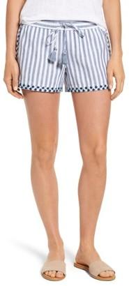 Women's Vineyard Vines Edging Stripe Drawstring Shorts $78 thestylecure.com