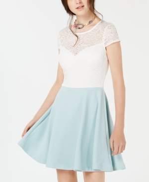 B. Darlin Juniors' Bow-Back Colorblocked Dress