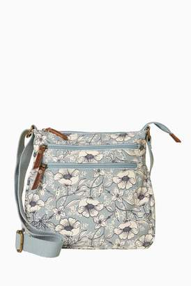 Next Womens FatFace Dragonfly Floral Canvas Cross Body Bag