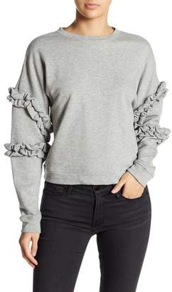 Romeo & Juliet Couture Knit Ruffle Sleeve Pullover